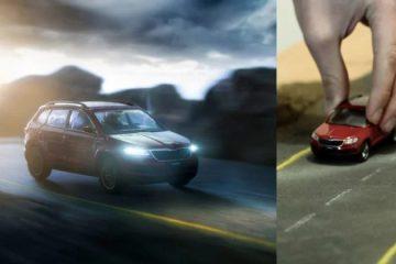 """Những hình ảnh quảng cáo xe hơi cực """"chất"""" được tạo từ những chiếc xe đồ chơi"""